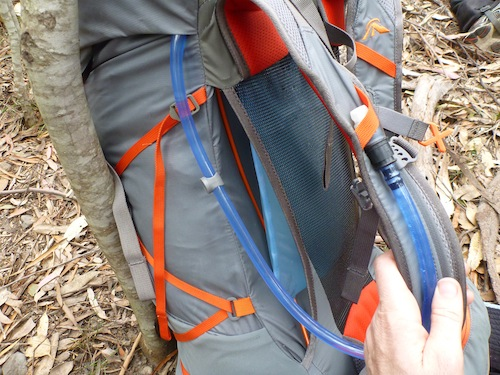 Easy to see/feel how much water you've got left with the Hydration pack hidden inside the harness