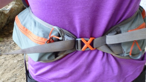Belt pockets are a good size with my camera in one and phone/GPS in the other