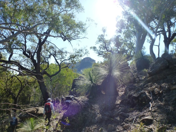 Walking in Gardens of Stone NP (Pic: Caro Ryan)
