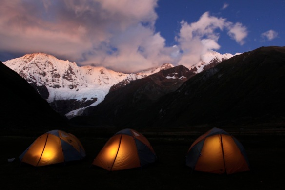My tiny home tent on the Huayhuash Circuit, Peru